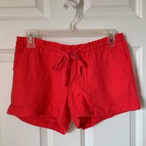 Old navy coral pink linen stretchy shorts size 0